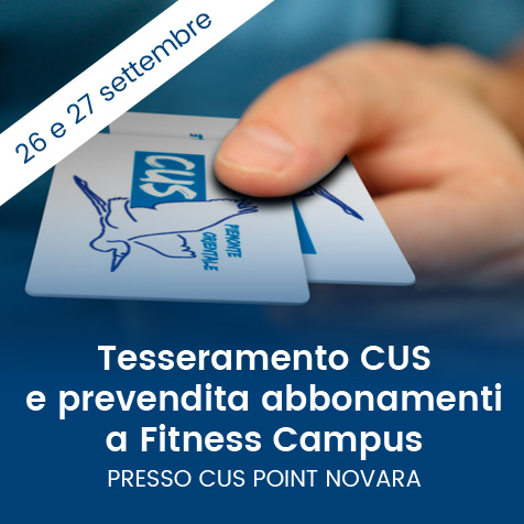 prevendita abbonamenti Fitness Campus palestra Novara